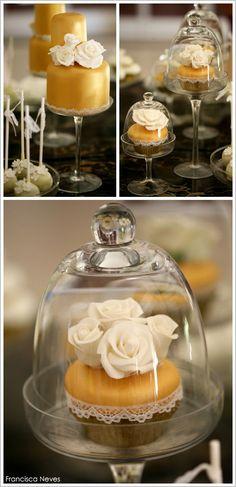 Elegant White & Gold Wedding  |  TheCakeBlog.com
