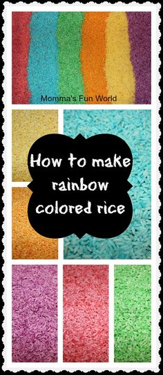 Use kool-aid to color rice