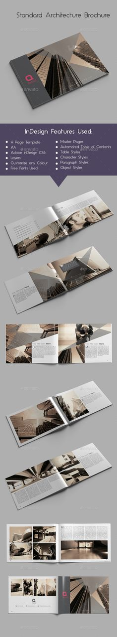 Standard Architecture Brochure — InDesign INDD #yellow #catalog • Available here → https://graphicriver.net/item/standard-architecture-brochure/9852707?ref=pxcr