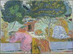 Pierre Bonnard (French, Fontenay-aux-Roses 1867–1947 Le Cannet)  Morning in the Garden at Vernonnet. #artists #bonnard