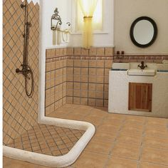 300X300mm Non Slip Rustic Ceramic Floor Tile For Bathroom On  Http://wljtiles.