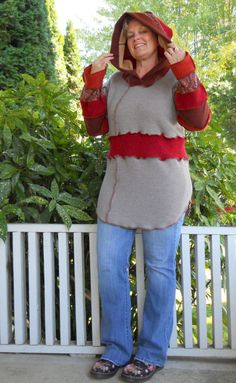 Upcycled Sweater Plus Size Tunic Recycled Sweaters