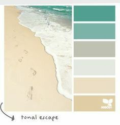 Turquoise grey beige colour palette