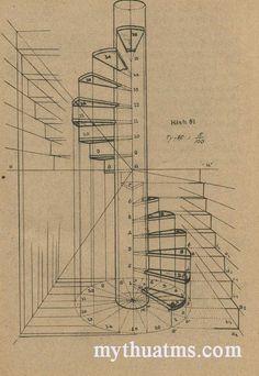 phoi canh 2 – Decor is art Railing Design, Gate Design, Staircase Design, Door Design, House Design, Spiral Staircase Plan, Stair Plan, Loft Stairs, House Stairs