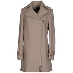 Hotel Particulier Coat (14.730 RUB) ❤ liked on Polyvore featuring outerwear, coats, khaki, lapel coat, woolen coat, single breasted coat, wool coat and long sleeve coat