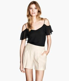 H&M Textured-weave Shorts $29.95