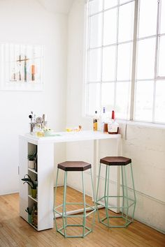 bar et rangement tabouret design