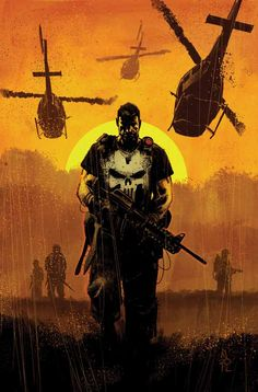Frank Castle was a highly trained soilder who after his family was murdered right in front of his eyes became the vigilante the punisher. the punisher Punisher Marvel, Marvel Comics, Punisher Max, Hq Marvel, Bd Comics, Marvel Heroes, Daredevil, Marvel Cinematic, Comic Book Artists