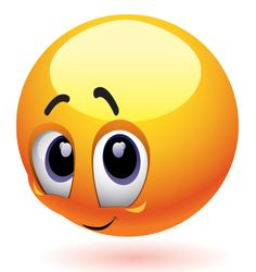 Fotka: This darling emoticon is too sweet for words! ➟ http://www.symbols-n-emoticons.com/2014/05/so-shy.html