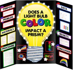 Science Fair Projects does a light bulb impact a prism