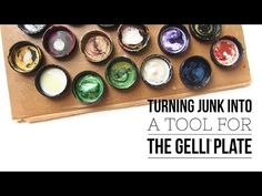 Turning Junk in a Tool for Gelli Printing® - YouTube