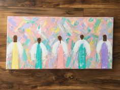 A personal favorite from my Etsy shop https://www.etsy.com/listing/509772844/angel-paintingangel-decorreligious