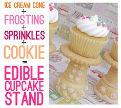 How to Make an Edible Cupcake Stand