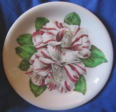 Vintage 40's Camellia Retro Hawaiiana Plate S