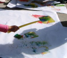 """let the children play: splat painting and lots of other """"get messy"""" fun things for kids"""
