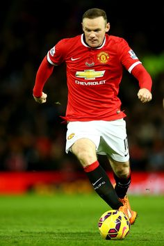 Wayne Rooney of Manchester United in action during the Barclays Premier League match between Manchester United and Crystal Palace at Old Trafford on November 8, 2014 in Manchester, England.