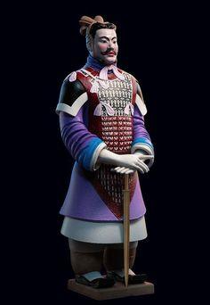 カラフルな装束、兵馬俑の最新調査