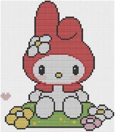 @Lisa Phillips-Barton Phillips-Barton Phillips-Barton Sommerfield -My Melody Cross Stitch Pattern PDF KAWAII