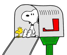 Snoopy and Woodstock Expecting a Letter