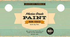 Vintage paint labels from Wallace Design House (via designworklife)