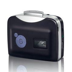 Arrela® Portable Ezcap USB Portable Cassette to MP3 Converter Tape-to-MP3 Player through USB Flash Disk with Headphones  http://www.amazon.com/gp/product/B00YOYPGS4/ref=as_li_tl?ie=UTF8&camp=1789&creative=9325&creativeASIN=B00YOYPGS4&linkCode=as2&tag=suprmariprod-20&linkId=SQXFNX2AQFMKZ3QP