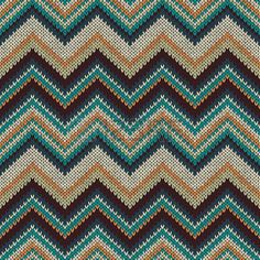 Style Seamless Knitted Pattern  Fashion Color Swatch