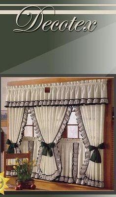 Konyha on pinterest valances country and kitchen curtains for Decoracion de cortinas de cocina