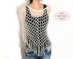 PDF Crochet PATTERN  Crochet Spiderweb Poncho by AimarroPatterns