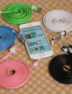 BelleChic Deal: 10-foot Tangle-free 8-pin charge noodle cable for just $4.99 shipped! - Money Saving Mom®