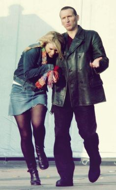 Billie Piper and Christopher Eccleston. BEAUTIFUL.