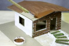 Box Houses, Paper Houses, Putz Houses, Cardboard Houses, Cardboard City, Cardboard Playhouse, Fairy Houses, Cardboard Model, Cardboard Crafts