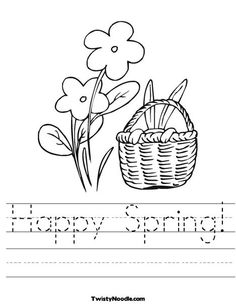 Happy Spring Worksheet from TwistyNoodle.com