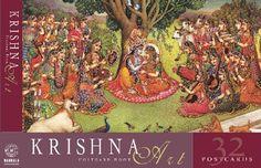 Krishna Art Postcard Book by B.G. Sharma. $9.99