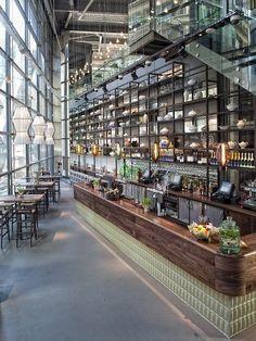Fancy cocktails in a fancy space