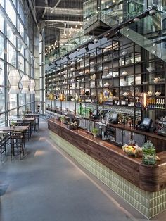 Estructura de Metal y vidrio. Bar #design