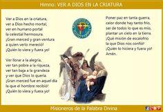 MISIONEROS DE LA PALABRA DIVINA: HIMNO LAUDES - VER A DIOS EN LA CRIATURA