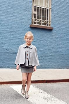 Enfant Street Style by #GinaKim #Hucklebones dress #ministyle #fashionkids #coolkidsclothes #childrenswear #kidstreetstyle