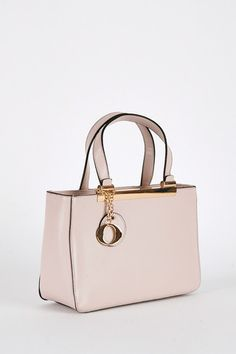 Zipped Grab Handbag in Light Pink