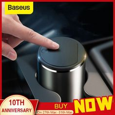Color : Black, Size : 1 Series Car Ashtray Car Trash Can//Compatible with BMW//with Cover LED Blue Light Portable Compact Ashtray with Lid Car Home Office Gift