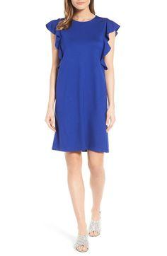 Ruffle Shoulder A-Line Dress HALOGEN®