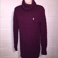 Ralph Lauren cable-kit turtleneck sweater Excellent condition.   No flaws  •No reserves/holds •I bundle & discount bundles •If an item is higher than you want to pay, message an offer or favorite & wait for price to drop weekly.  •My mannequin is Xsm so sometimes items appear loose or I clip back for actual look/fit •Usually ships within 24 hrs and latest 48 hours unless otherwise noted.  •Some of my items are various sizes because I sell for sister as well. #ralphlauren #sweater Ralph…