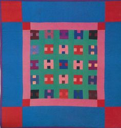 'H' Quilt, 1940. Amish. Lancaster Co, Pennsylvania.