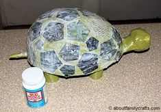 Paper Mache Patchwork Turtle | About Family Crafts