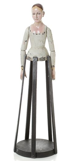 Small Painted Lady Santos Cage Doll Form