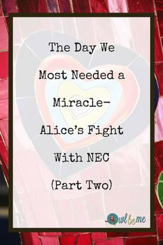 The Day We Most Needed a Miracle- Alice's Fight With NEC (Part Two)