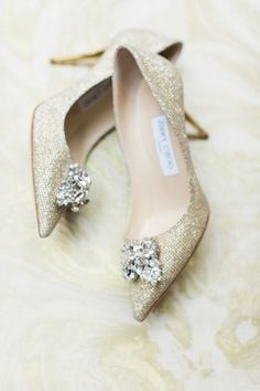 Gold glitter pointed toe Jimmy Choo pumps: http://www.stylemepretty.com/new-york-weddings/new-york-city/brooklyn/dumbo-brooklyn/2016/09/15/brooklyn-new-york-rustic-glamour-wedding-inspiration/ Photography: Bashful Captures - http://bashfulcaptures.com/