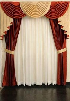 cenefas - Buscar con Google Layered Curtains, Curtains And Draperies, Luxury Curtains, Hanging Curtains, Window Curtains, Classic Curtains, Elegant Curtains, Colorful Curtains, Arched Window Treatments
