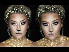 GOLD LION | Easy Last Minute Halloween Makeup | 31 DAYS OF HALLOWEEN | Glamnanne - YouTube