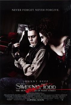 "Tim Burton's ""Sweeny Todd...The Demon Barber of Fleet Street"" (2007).  Starring Johnny Depp and Helena Bonham Carter."