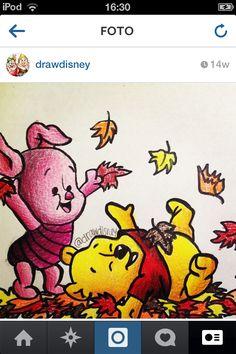 Drawing Winnie the pooh